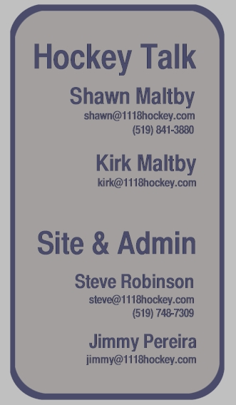 1118 Hockey Contacts - Kirk and Shawn Maltby